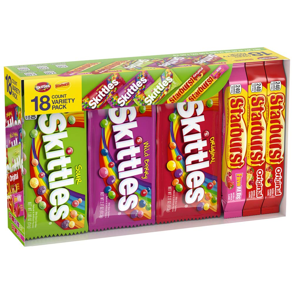 Skittles STARBURST Candy Full Size Variety Mix 37.05-Oz, 18 Count