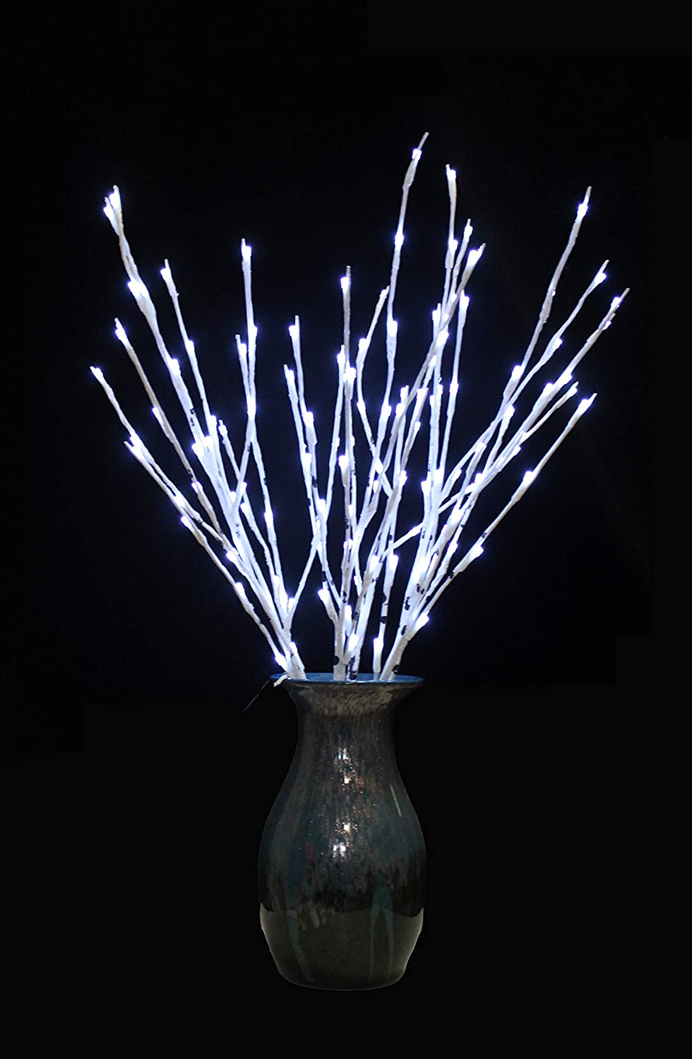 snowstorm 30 inches Lighted Birch Tree 60 LED Lights Warm White for Home Christmas Wedding Festival Party Decoration,Indoor and Outdoor(2 Sets)
