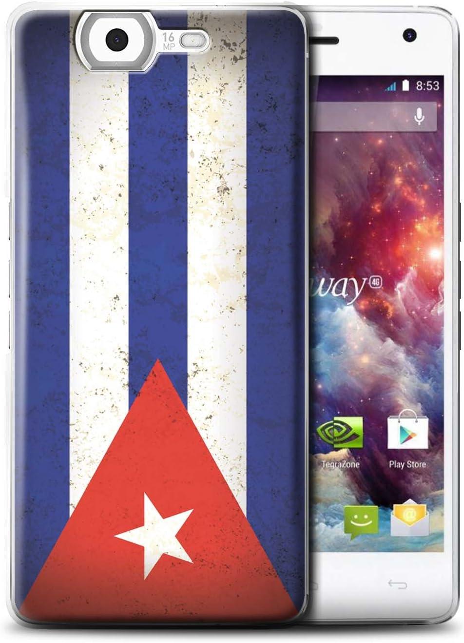 Stuff4® Phone Case/Cover/Skin/wkhw4g/Americas Flag Collection Cuba/Cubano: Amazon.es: Electrónica