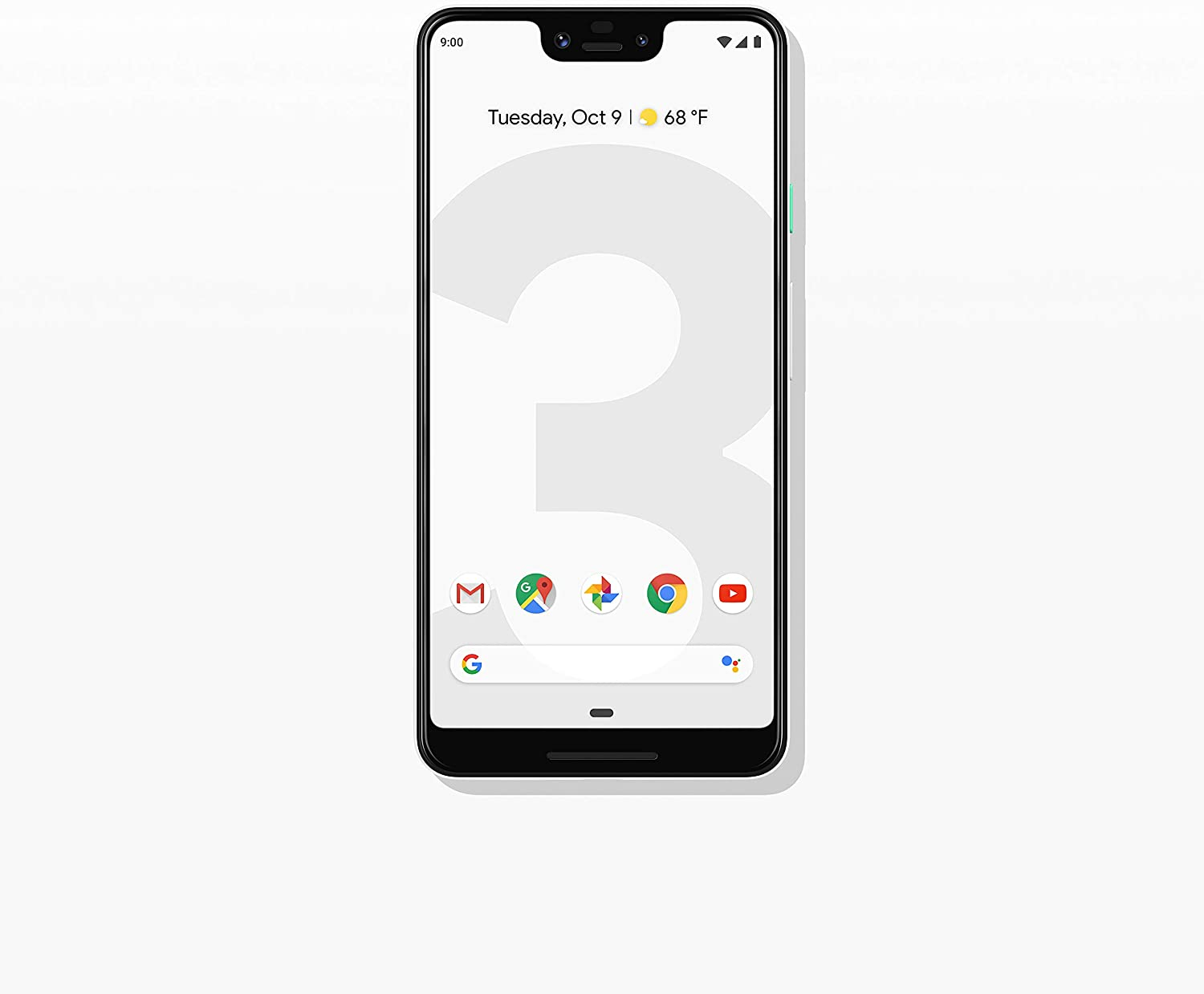 Google - Pixel 3 XL with 64GB Memory Cell Phone (Unlocked) - Clearly White