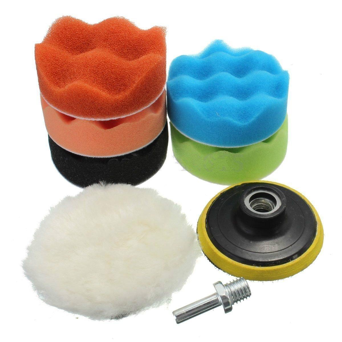 19Pcs Sponge Buffing Buffer Pad Polishing Waxing Kit Set Auto Car Polisher(M10 Drill Adapter) Yosoo LEPAZA58099