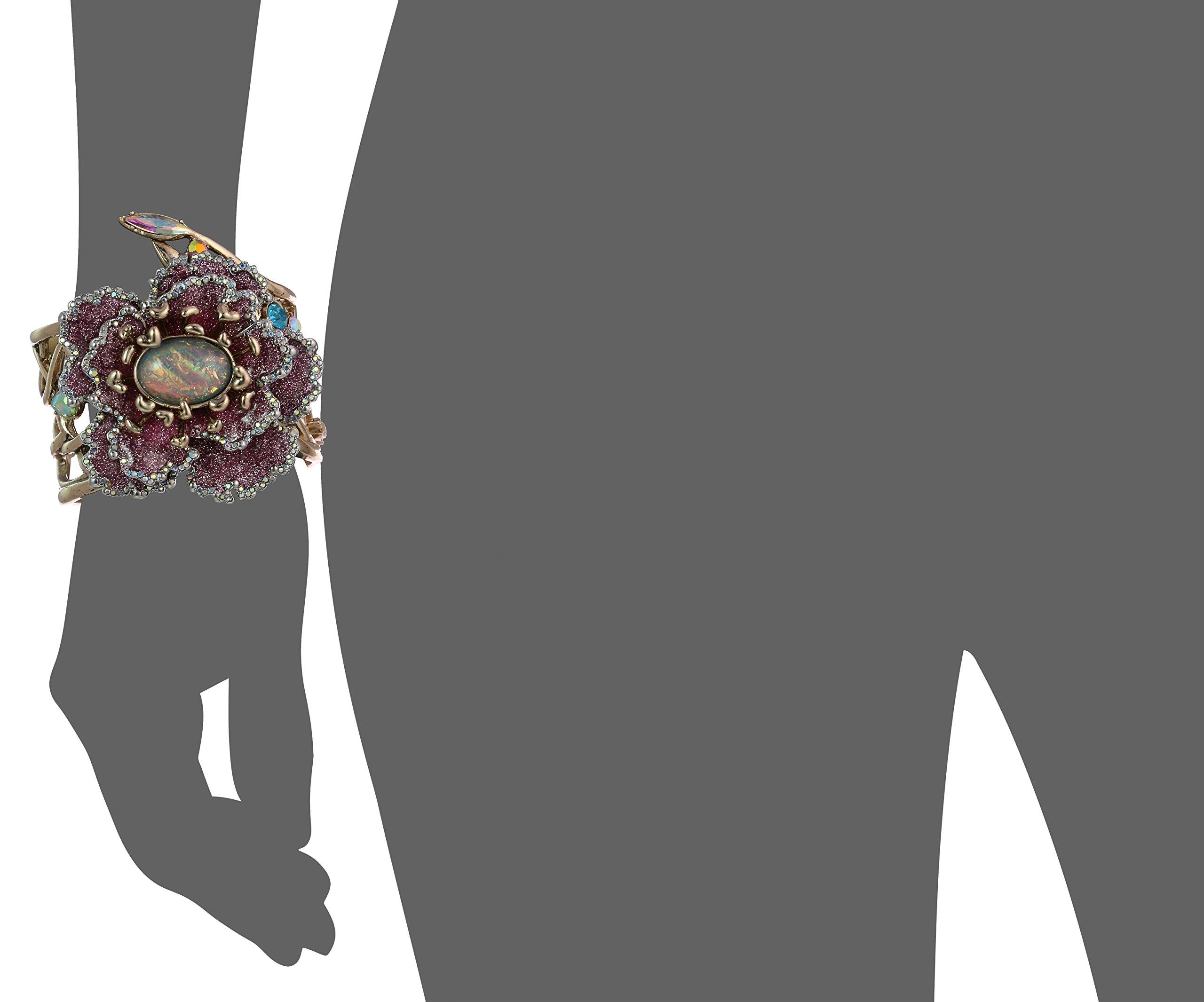 Betsey Johnson Womens Blooming Betsey Flower Hinge Statement Bracelet, Multi, One Size by Betsey Johnson (Image #2)