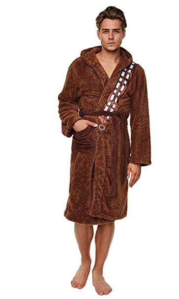 ed07933ced Star Wars, Jedi, accappatoio marrone e beige Chewbacca Chewie Wookiee  Taglia unica: Amazon.it: Abbigliamento