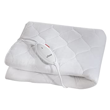 Ufesa CC9327 - Calientacama con sistema inteligente de seguridad, 90 W, color blanco