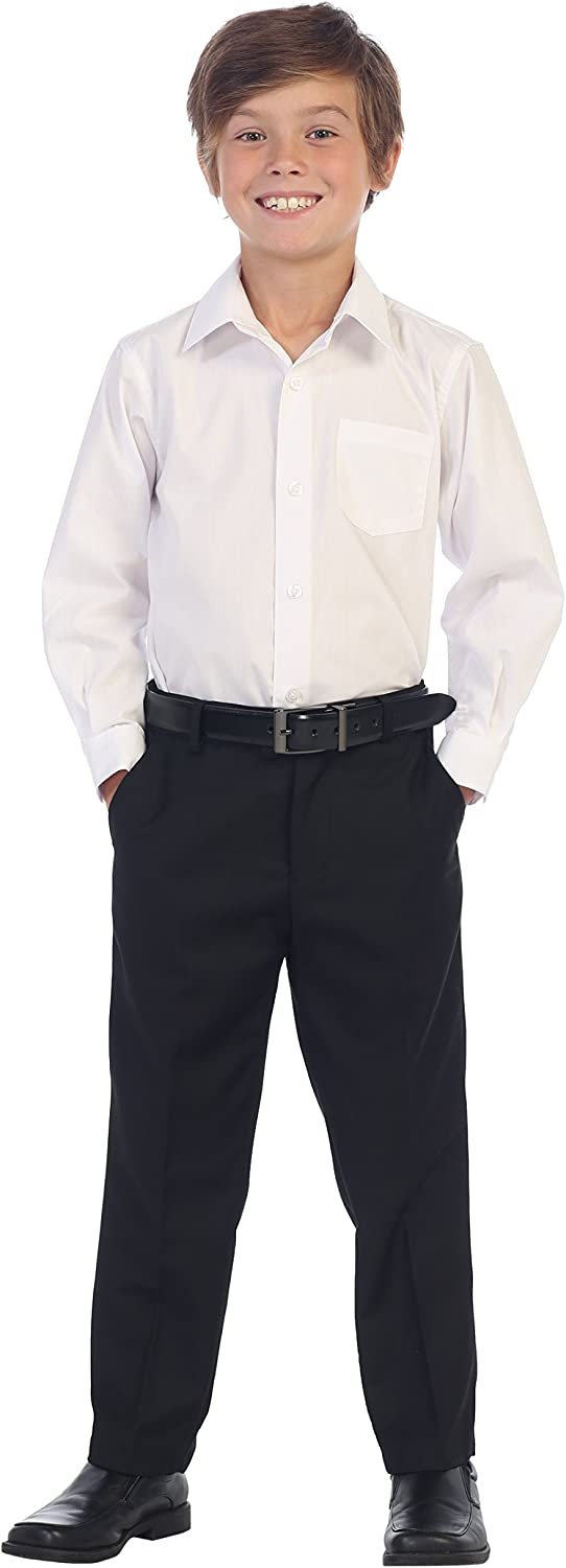 Gioberti Boys Flat Front Dress Pants