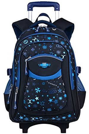 Coofit Cartable a roulette fille en Oxford Sac roulette fille Cartable fille  college Cartable fille primaire d77c6b5d3c6a