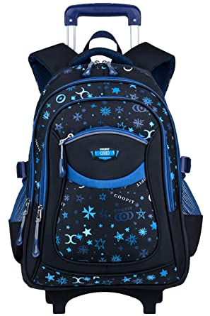 c013757a2a62 Rolling Backpack, COOFIT Wheeled Backpack School Kids Rolling Backpack With  Wheels