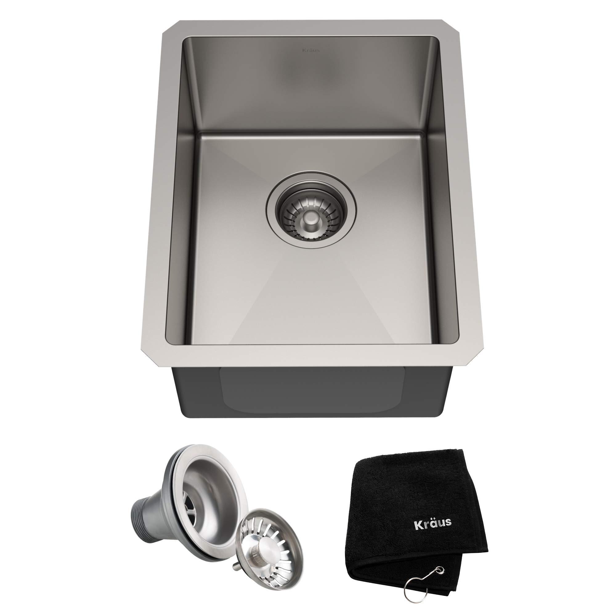 Kraus KHU101-14 Standart PRO Kitchen Stainless Steel Sink 14 Inch