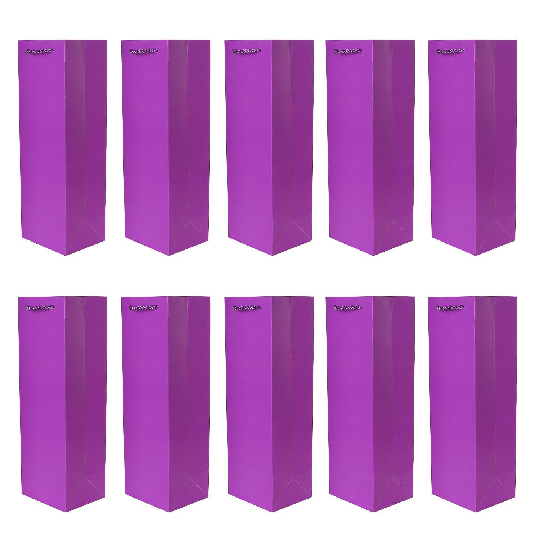 DonDon - Lot de 10 pochettes cadeaux sacs de bouteilles vert foncé pour vin et champagne 36x12x10 cm Tradict GmbH