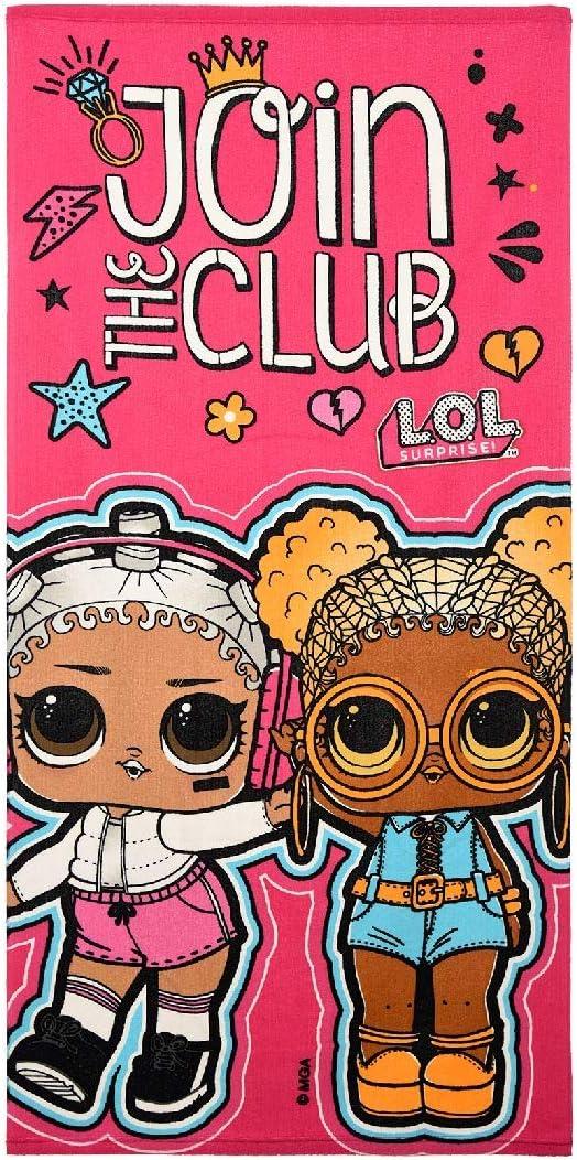 pink 70 x 140 cm L.O.L Surprise Kinder Badetuch Strandtuch Join the Club