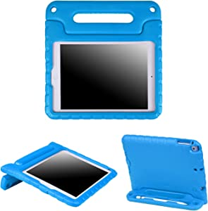 HDE iPad 6th Generation Case for Kids – iPad 9.7 inch 5th and 6th Generation Cases for Kids Shock Proof Protective Light Weight Cover with Handle Stand for Apple iPad 9.7 with Pencil Holder - Blue