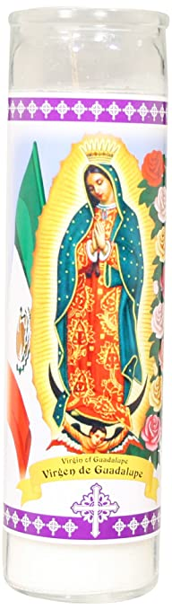 Amazon.com: Star Candle 8-Inch Candle, Virgin of Guadalupe: Home ...