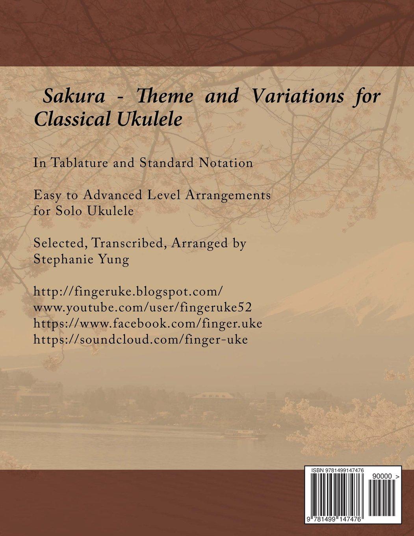 Amazon com: Sakura - Theme and Variations for Classical Ukulele
