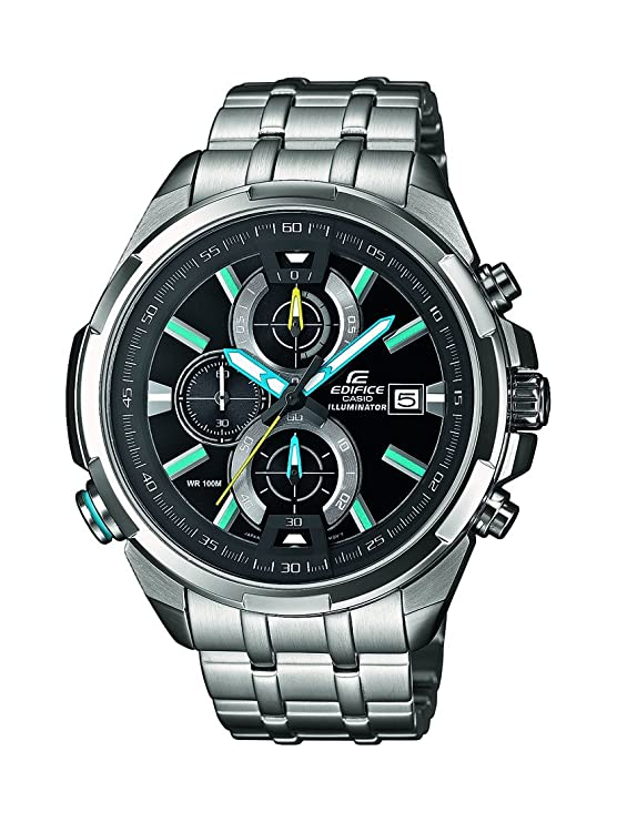 c31819dc4b54 Casio Reloj para Hombre de Cuarzo con Correa en Acero Inoxidable  EFR-536D-1A2VEF  Amazon.es  Relojes