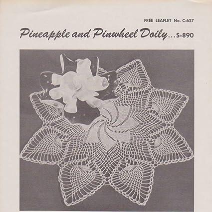 Amazon Vintage Crocheted Pineapple And Pinwheel Doily Pattern