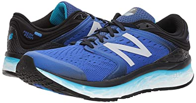 2450725048877 New Balance Mens Fresh Foam 1080v8 B Width Running Shoes, Black/Blue - 8
