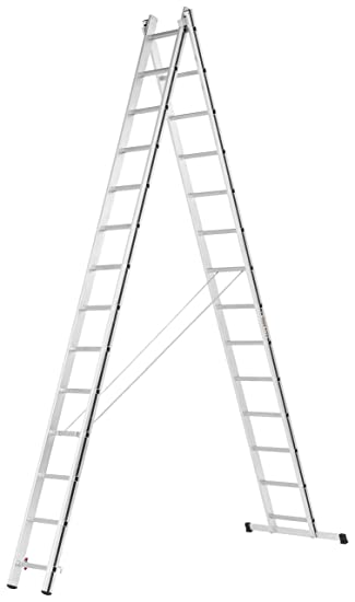 3x10 Sprossen HYMER 7004730 ALU-PRO Mehrzweckleiter dreiteilig