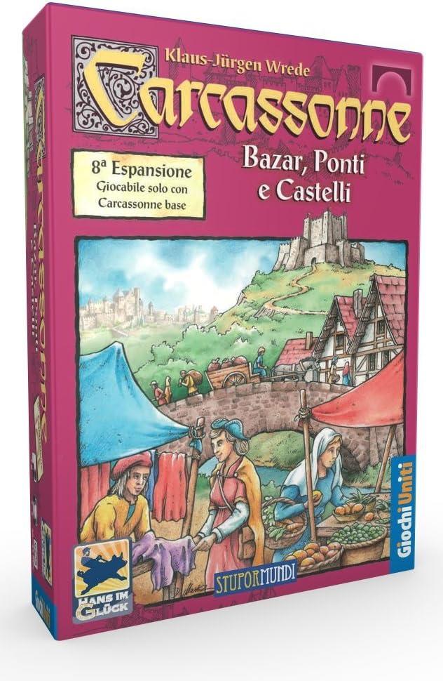 Giochi Uniti Carcassonne - Juego de Tablero (Ponti e Castell, 230 mm, 230 mm, 50 mm): No Name: Amazon.es: Juguetes y juegos