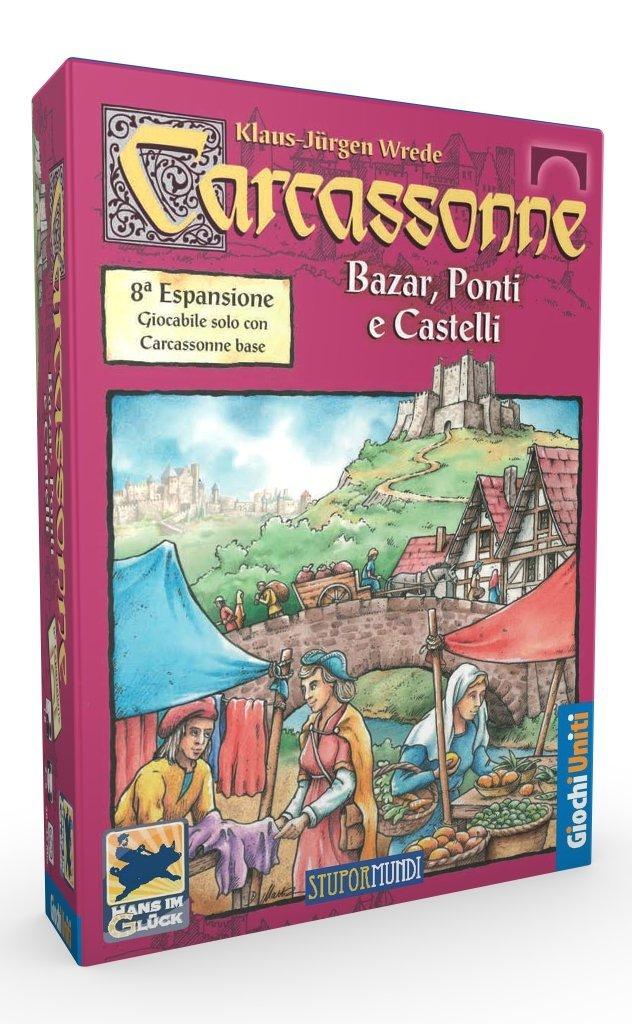 Giochi Uniti Carcassonne - Juego de Tablero (Ponti e Castell, 230 ...