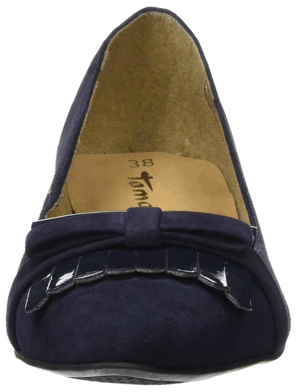 Tamaris 22100 Damen 22100 Tamaris Geschlossene Ballerinas Blau (Navy) 11dcae