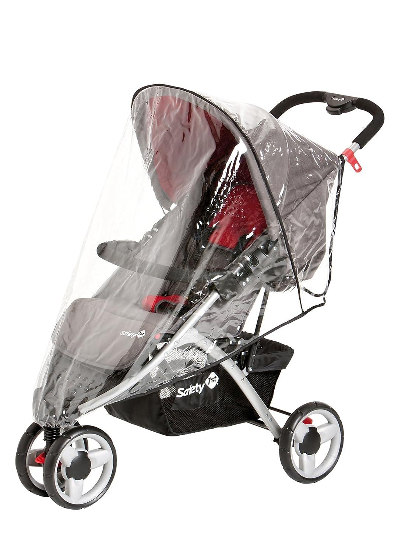 Safety 1st 11105421 Easy Go - Silla de paseo con capota, protector para la lluvia, cesta y adaptador para capazo, color gris y rojo: Amazon.es: Bebé