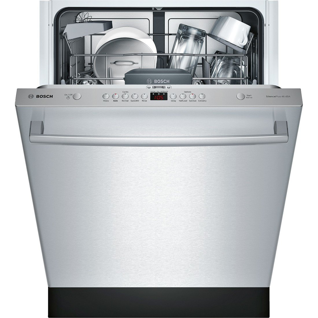 amazon com shx5av55uc 24 ascenta energy star rated dishwasher with rh amazon com Diagram to Install a Dishwasher Bosch Dishwasher Electrical Connection