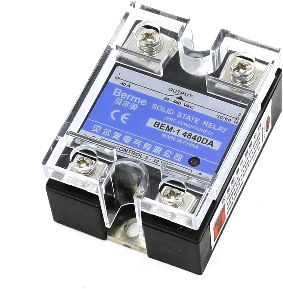 10A Solid State Relay SSR DC-AC Input 3-32V//DC Output 24-480V//AC 50//60H New