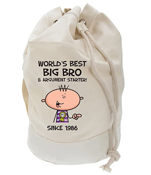 Tribal T Shirts Worlds Best Big Brother Mens 30th Birthday Present Duffle Backpack Bag