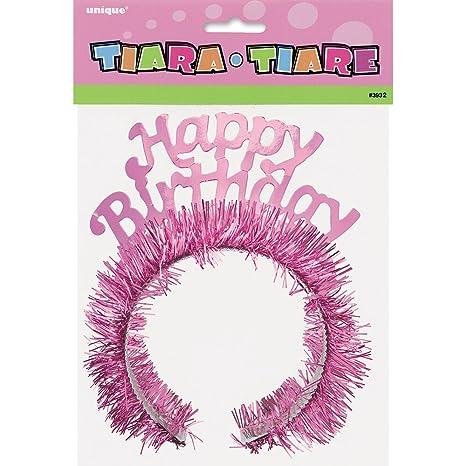 Amazon.com: Rosa Feliz cumpleaños Tiara: Kitchen & Dining