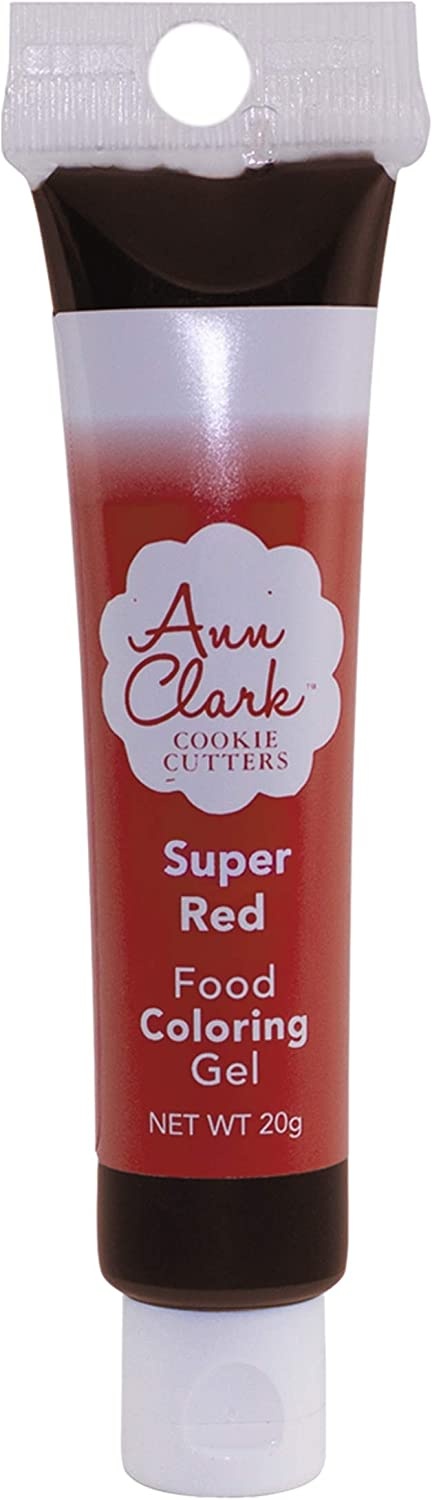 Ann Clark Cookie Cutters Super Red Food Coloring Gel, 20g