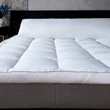 """3/"""" Thick Memory Foam Mattress Topper Gel Infused Bed Pad Cover Comfort PillowTop"""