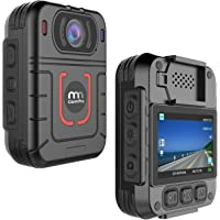 CammPro HD 1296P Police Body Camera, Infrared Night Vision Wearable Camera, Warning Lights and Alarm, Built-in 64GB…