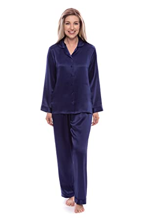 cc873ec373 TexereSilk Women s 100% Silk Pajama Set - Luxury Sleepwear Pjs (Morning  Dew