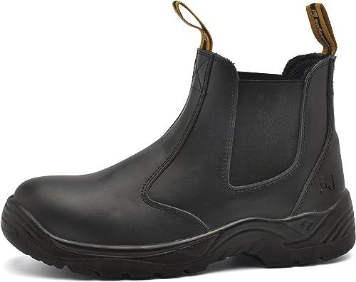 de Sécurité SAFETOE Homme Chantier Bottes Homme de S3 Chaussure Securité de M8025 Basket Travail Glisse Protection Montante LegereAnti Chaussure v0nmN8w