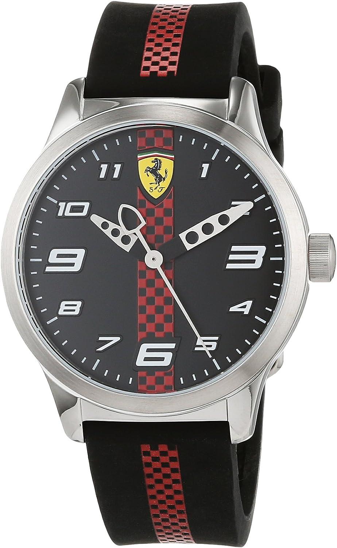 Scuderia Ferrari Reloj Analógico para Niños de Cuarzo con Correa en Silicona 860002