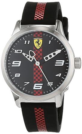Scuderia Ferrari Reloj Analógico para Niños de Cuarzo con Correa en Silicona 860002: Amazon.es: Relojes