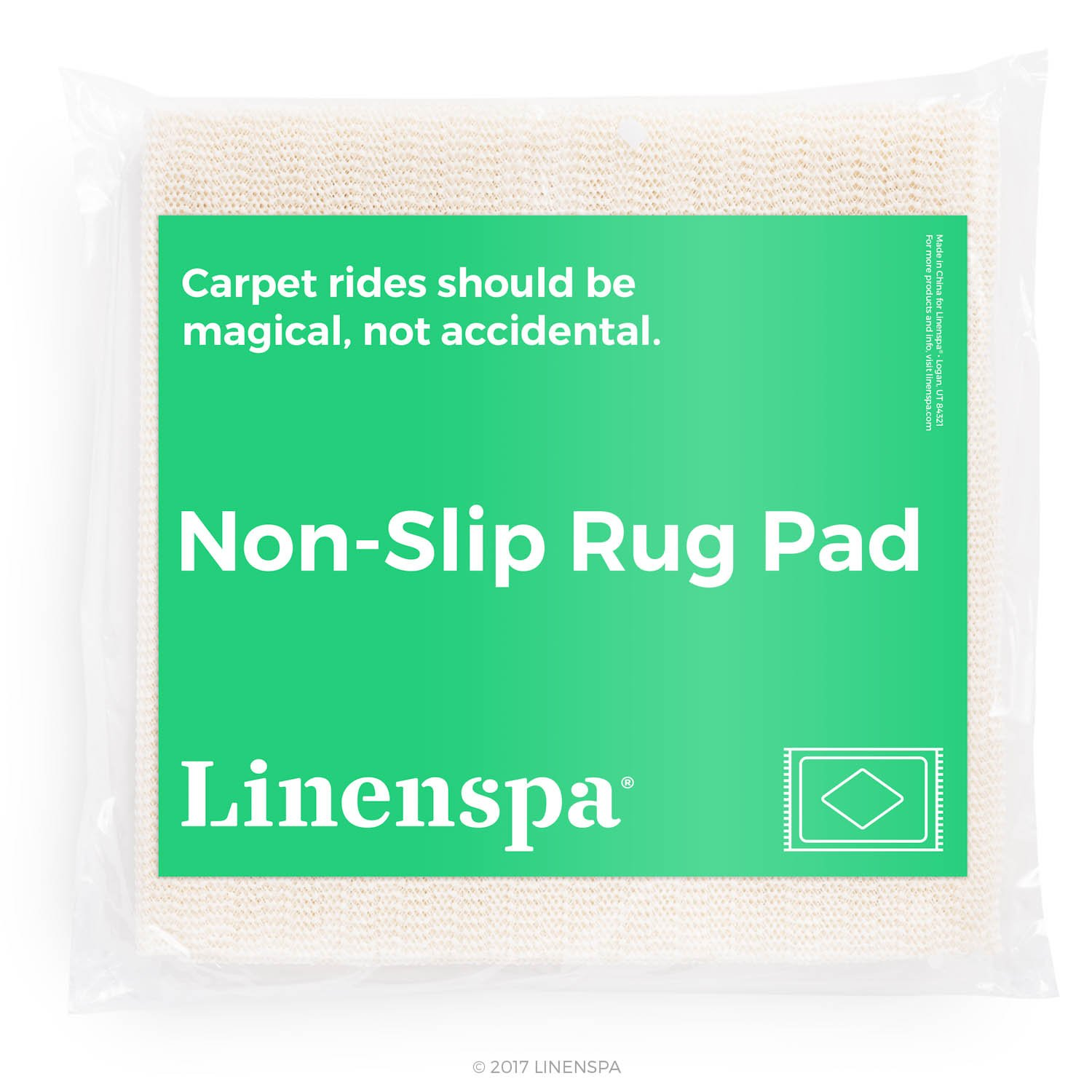 9 x 12 Feet Excellent Grip Linenspa Non-Slip Area Rug Pad Indoor Rubberized LS20ST912RP