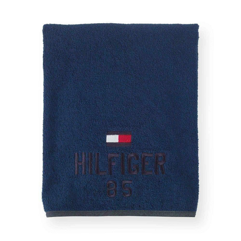 Tommy Hilfiger Badetuch Optimistic I Farbe Blue I Gr/ö/ße 90x200 cm I Reine Gek/ämmte Baumwolle