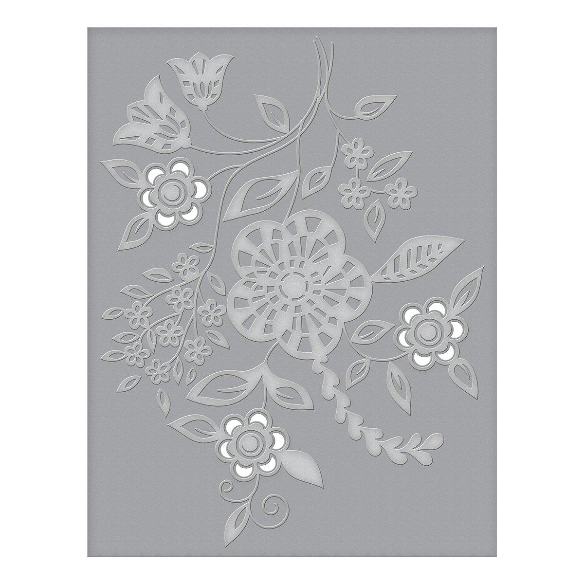Spellbinders CEF-006 Blooming Sprigs Cut and Emboss Folder