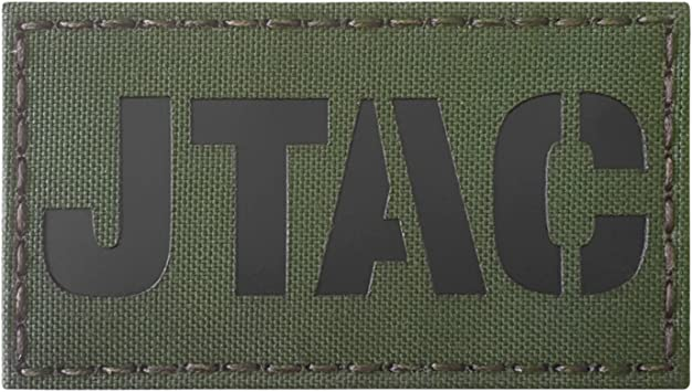 OD Green Olive Drab JTAC Joint Terminal Attack Controller Air Support FAC Infrared IR 3.5x2 Tactical Morale Touch Fastener Patch