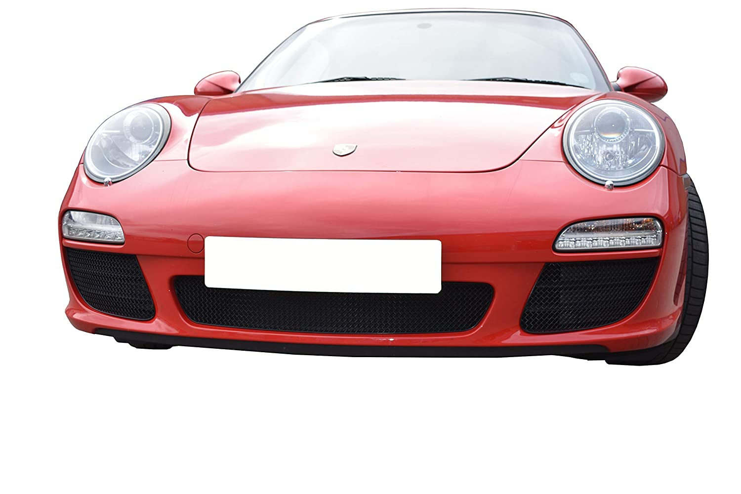 Black Finish Zunsport Compatible With Porsche Carrera 997.2 C2 2009-2012 Front Grille Set C2S