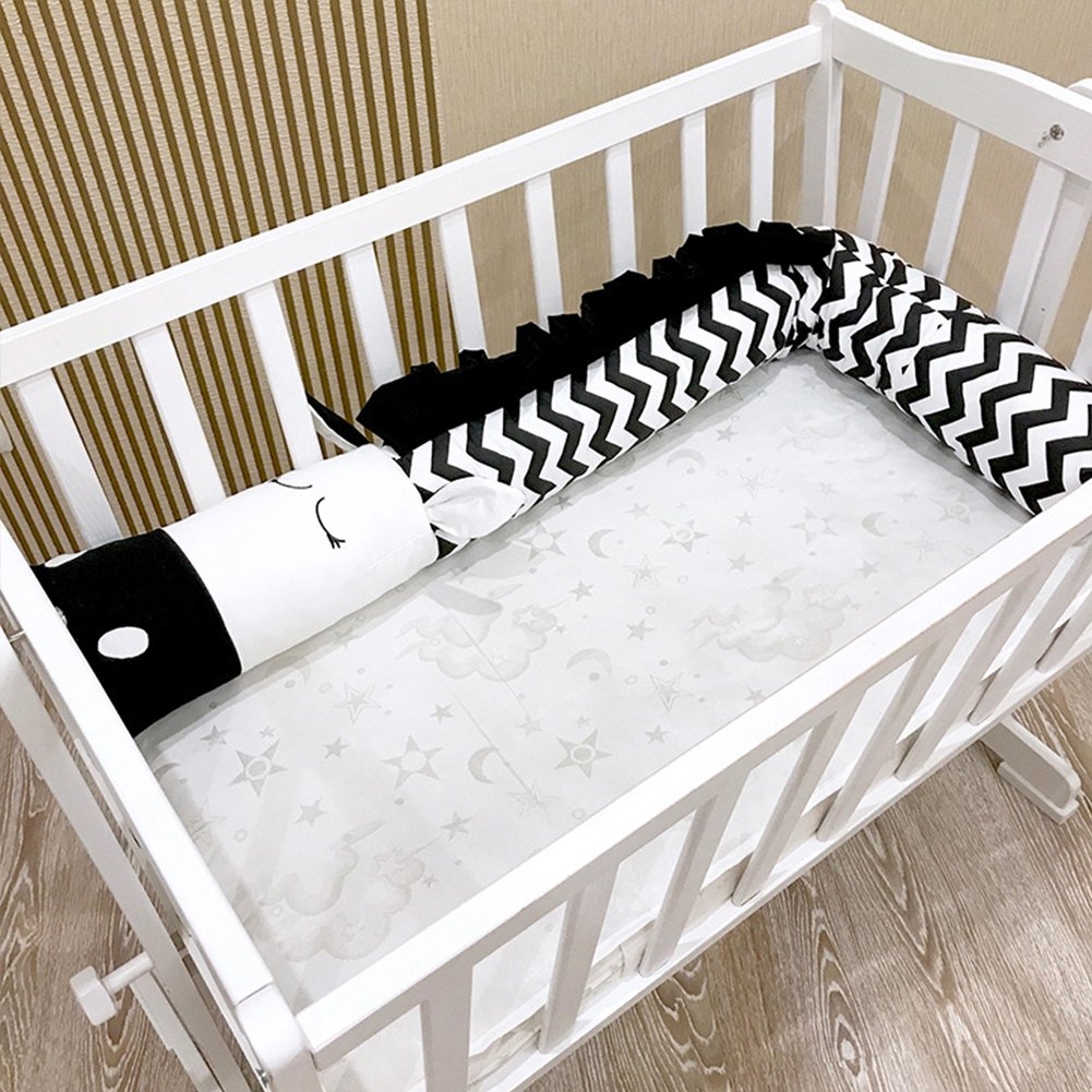 Kuuboo Baby paracolpi in cotone avvolgente protezione per lettino, con testa Guard sicuro presepe Sided paracolpi da letto