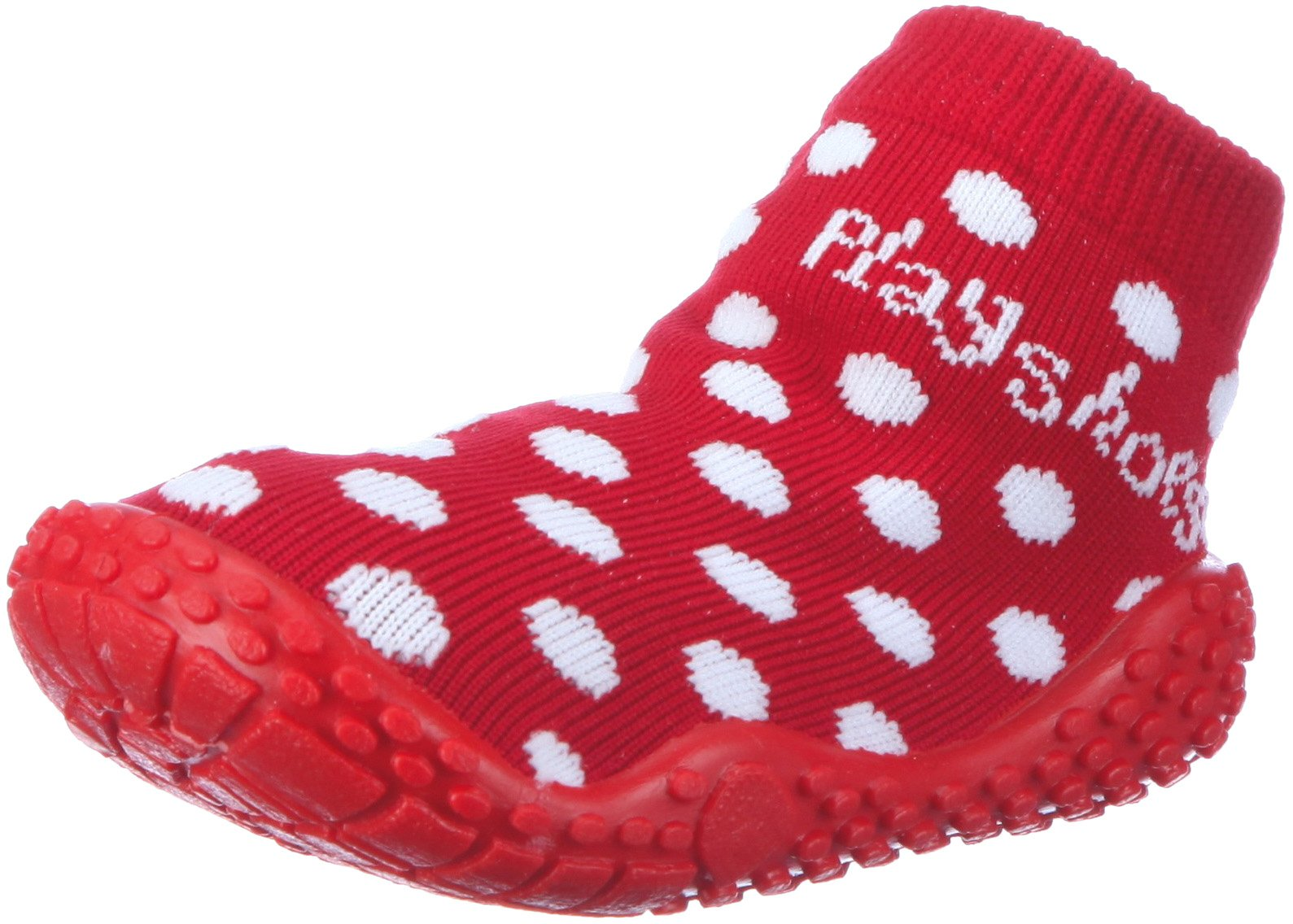 Playshoes Girls Dots Collection Rubber Aqua Swim/Beach Sock Shoes (7 M US Toddler) by Playshoes (Image #1)