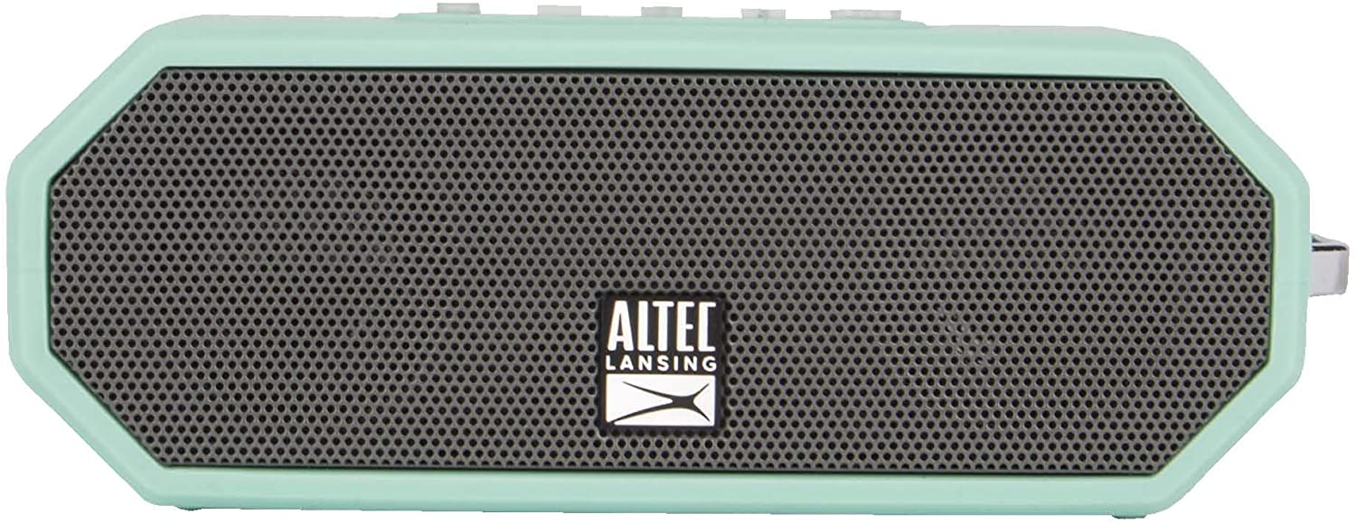 Altec Lansing IMW449 Jacket H2O 4 Rugged Floating Ultra Portable Bluetooth Waterproof Speaker with up to 10 Hours of Battery Life, 100FT Wireless Range and Voice Assistant Integration (Mint)