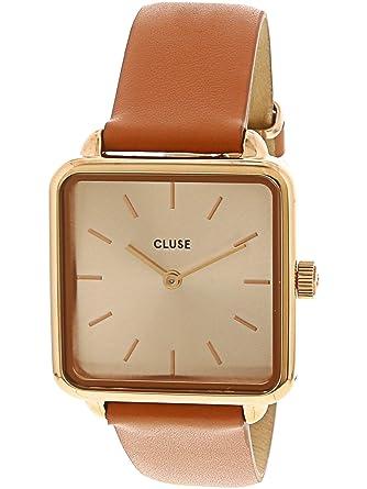 Cluse Reloj Analógico para Mujer de Cuarzo con Correa en Cuero CL60010: Amazon.es: Relojes