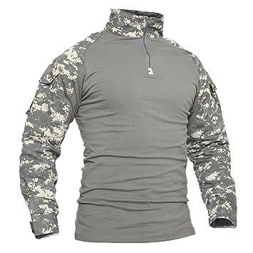 best website 23894 321ff TACVASEN Men's Military Rapid Assault Slim Fit Pullover Long Sleeve 1/4 Zip  T-Shirt