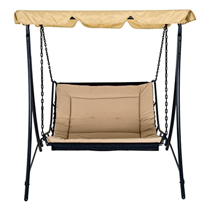 Fine Amazon Com Festnight Outdoor Swing Chair Bed With Mosquito Uwap Interior Chair Design Uwaporg