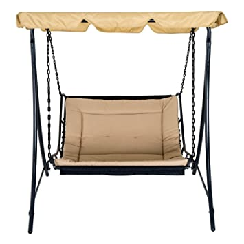 Amazon Com Festnight Outdoor Swing Chair Bed With Mosquito Netting