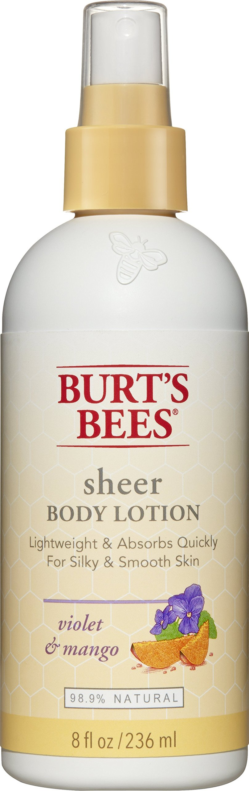 Burt's Bees Sheer Body Lotion, Violet and Mango, 8 Fluid Ounces (Pack of 3) by Burt's Bees
