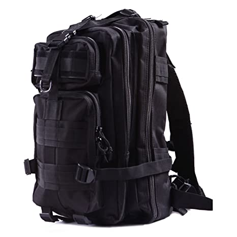 5fdd842c28 HDE Military Tactical Backpack Expandable Small Lightweight Assault Pack  20L MOLLE Combat Bug Out Bag for